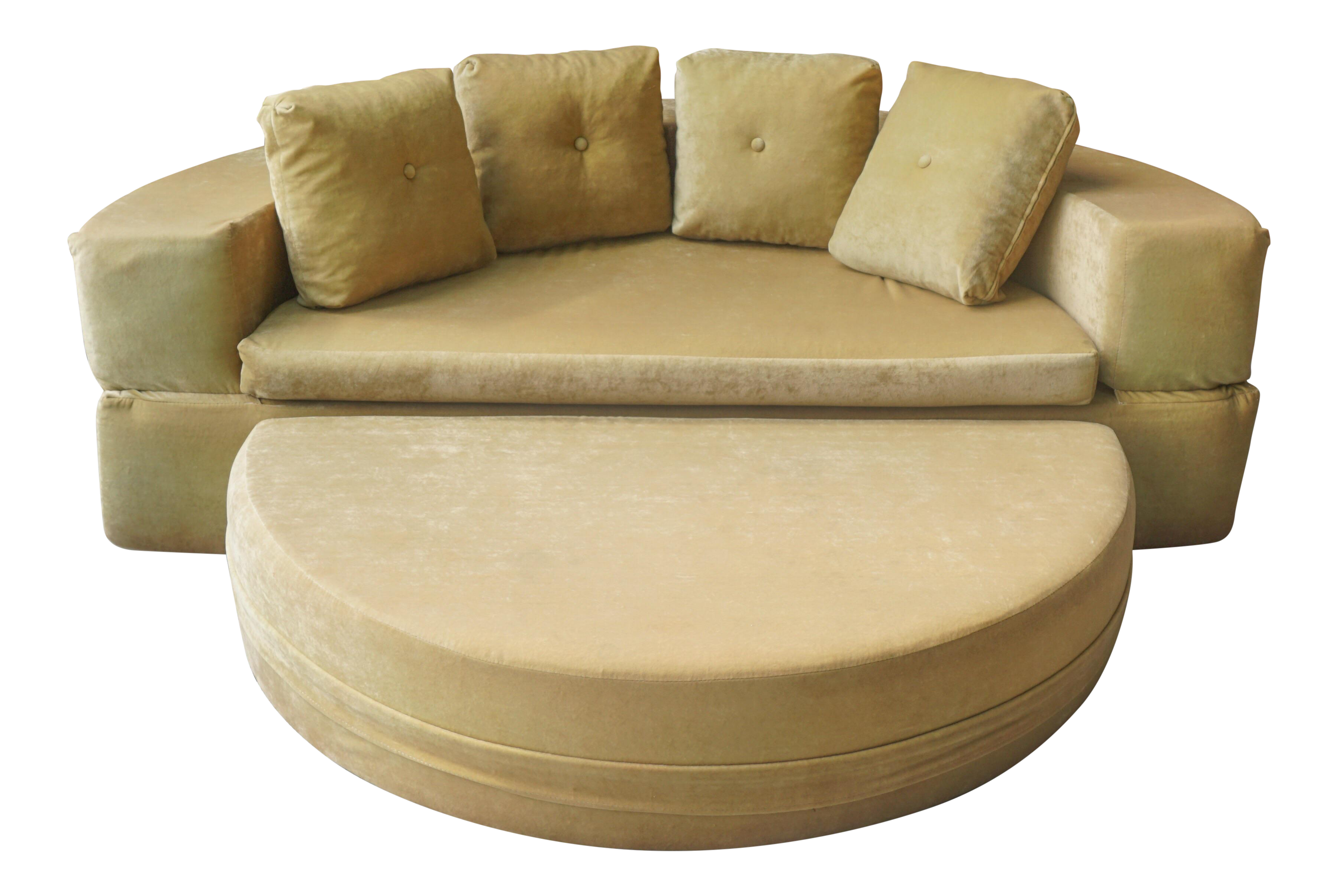 mid century modern hemispheric couch