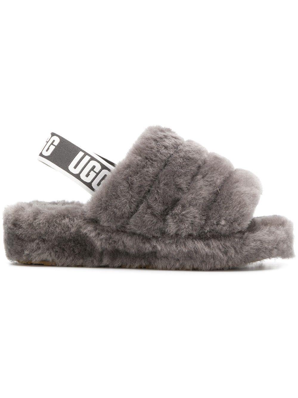 Ugg Slingback Woolly Slippers Farfetch Grey Ugg Slippers Ugg Slippers Uggs