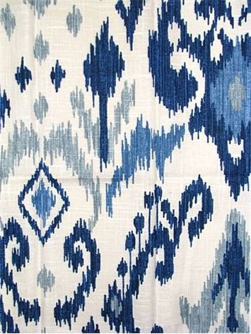 03366 Blue Vern Yip Fabric In 2019 Home Things Ikat