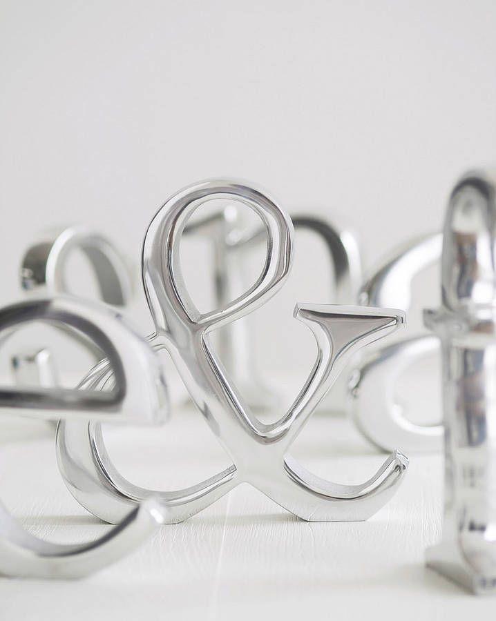 Decorative Aluminum Letters Aluminium Heavy Letters  Metals