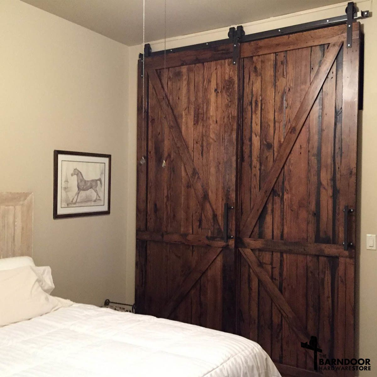 single closet doors. Single Track Bypass© Sliding Barn Door Hardware Lets 2 Doors Overlap Each Other On 1 - SALE! Closet O