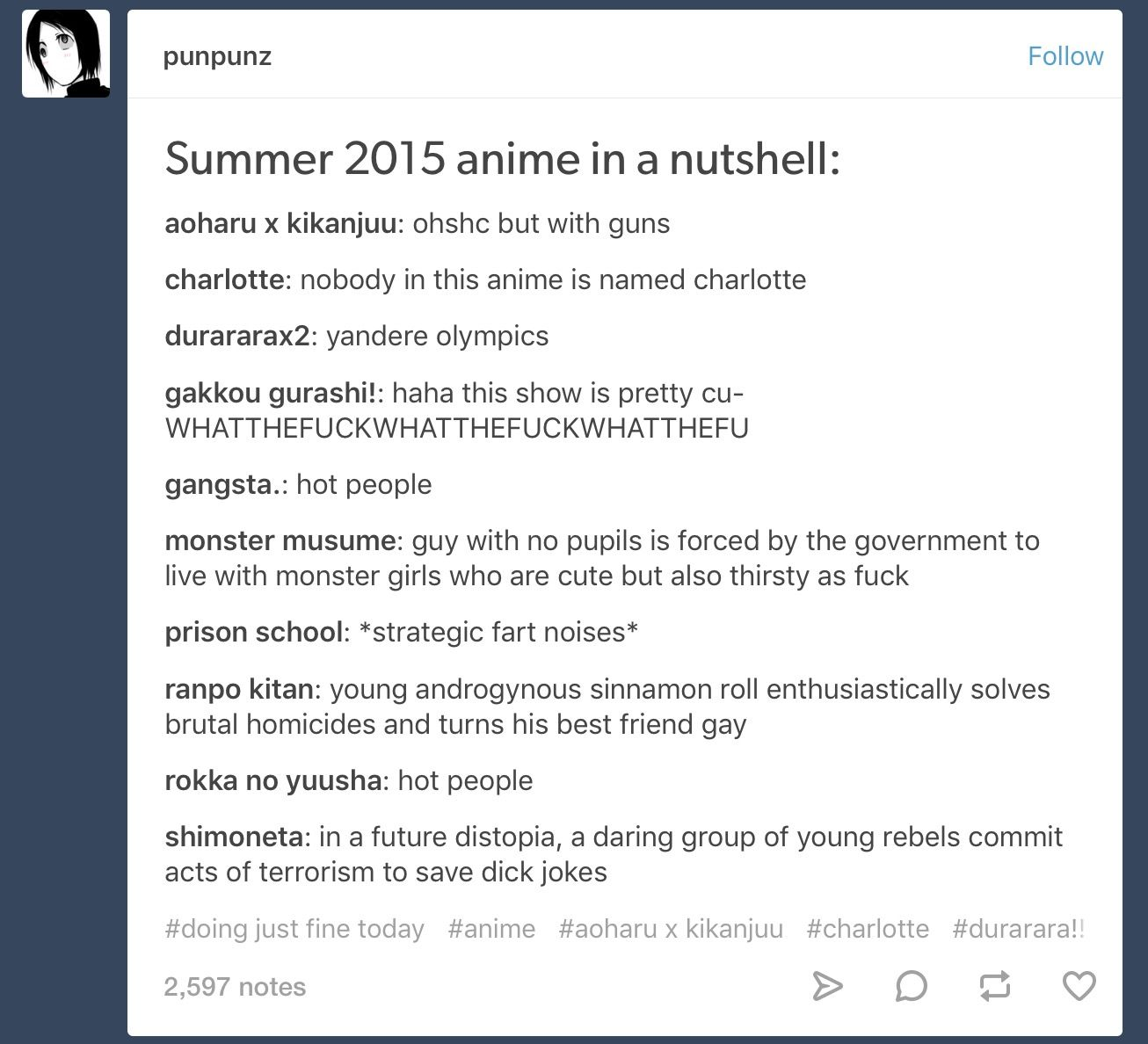 2015 anime in a nutshell anime pinterest anime