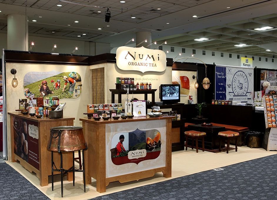 organic tea display trade show booth ideas pinterest show