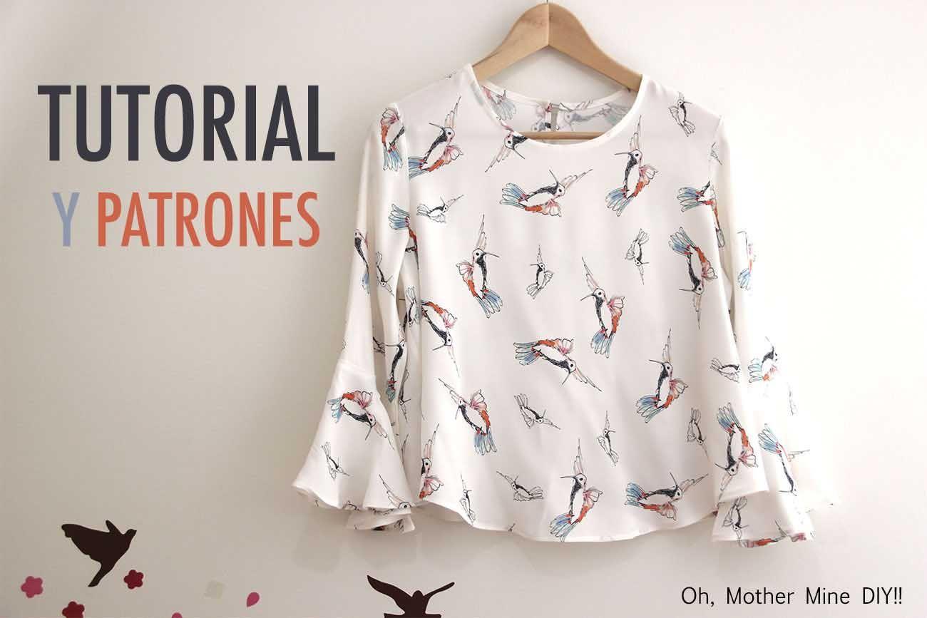 DIY Costura: Blusa de mujer (patrones gratis) | C O S T U R A - ropa ...