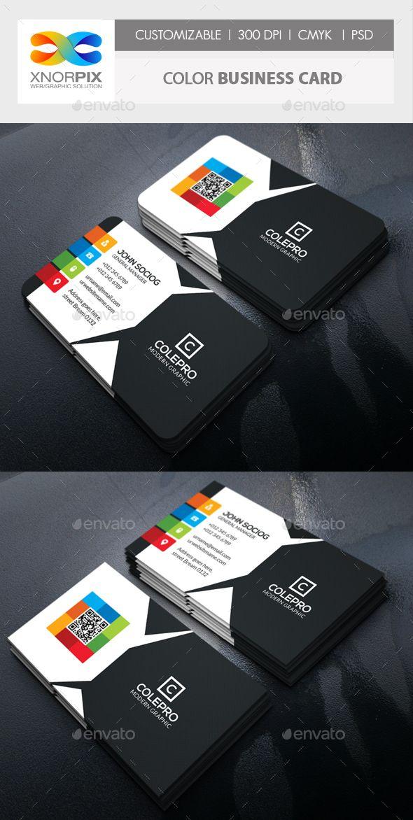 Color business card cartes de visita visita e carto color business card reheart Choice Image
