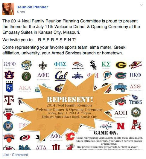 Neal Family Reunion Invitation  Represent Is The Theme And