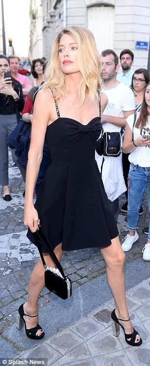 Understated: Making the most of her doll-like features, Doutzen went for minimal make-up...