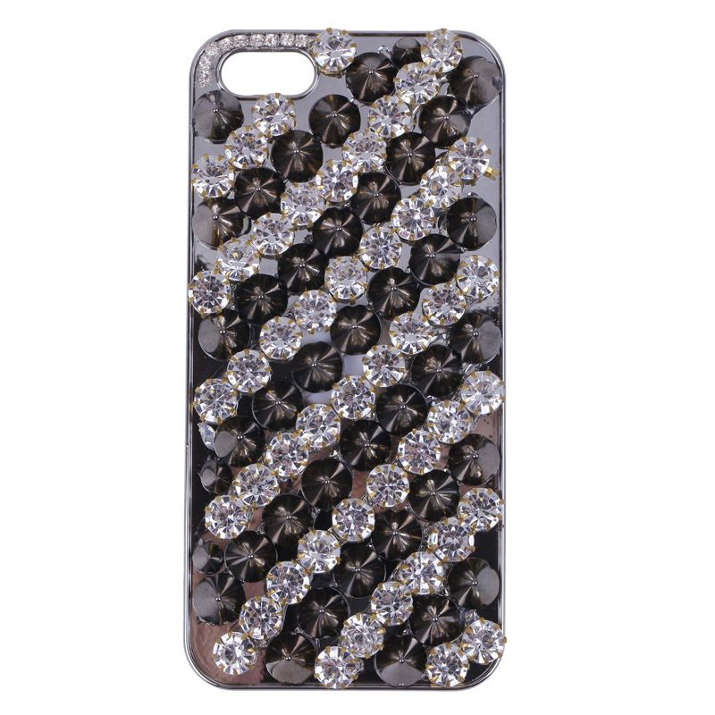 1pc Stylish Bling Punk Crystal Rivet 3D Case Hard Cover For Apple iphone 5 5S