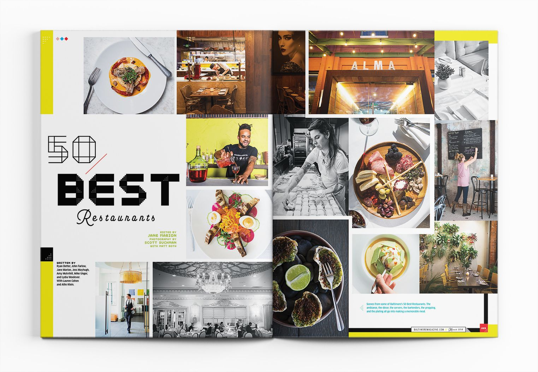 Baltimore Magazine March 2018 50 Best Restaurants