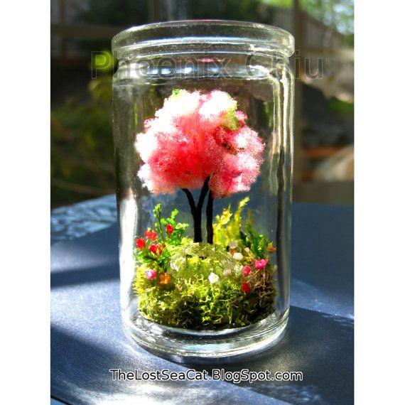 April Birthstone Garden terrarium Cherry blossom by phoenixchiu