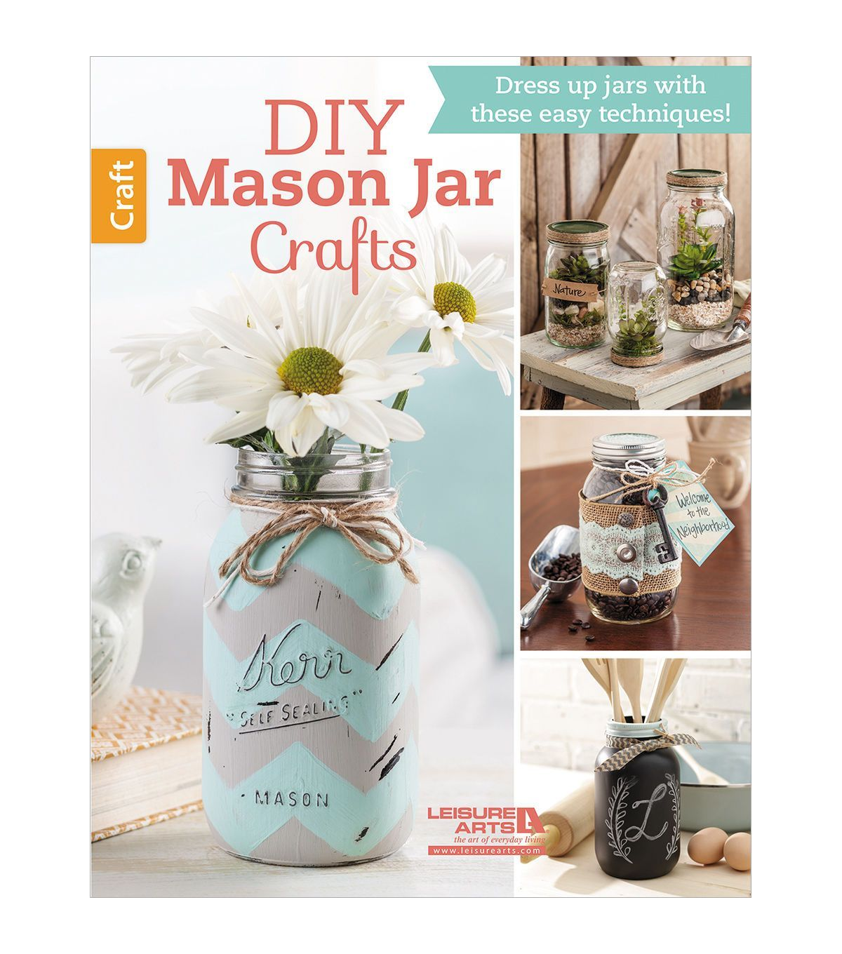 Diy mason jar crafts book crafts hobbies books for Book craft ideas
