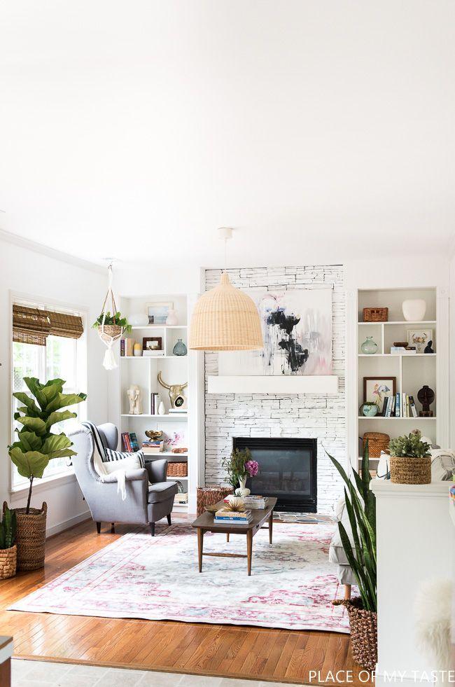 wonderful eclectic living room design nijihomedesign   FAMILY ROOM REVEAL   Home living room, Home, Boho living room