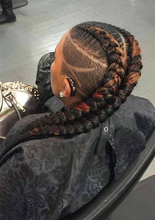 Image Result For Goddess Braids And Undercut Braids With