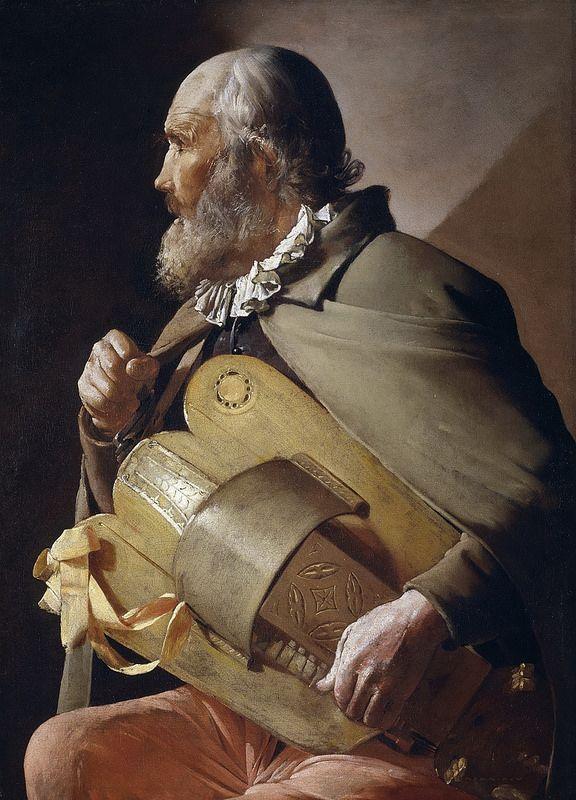 Georges de la Tour - Man Playing the Hurdy Gurdy [1610-30]