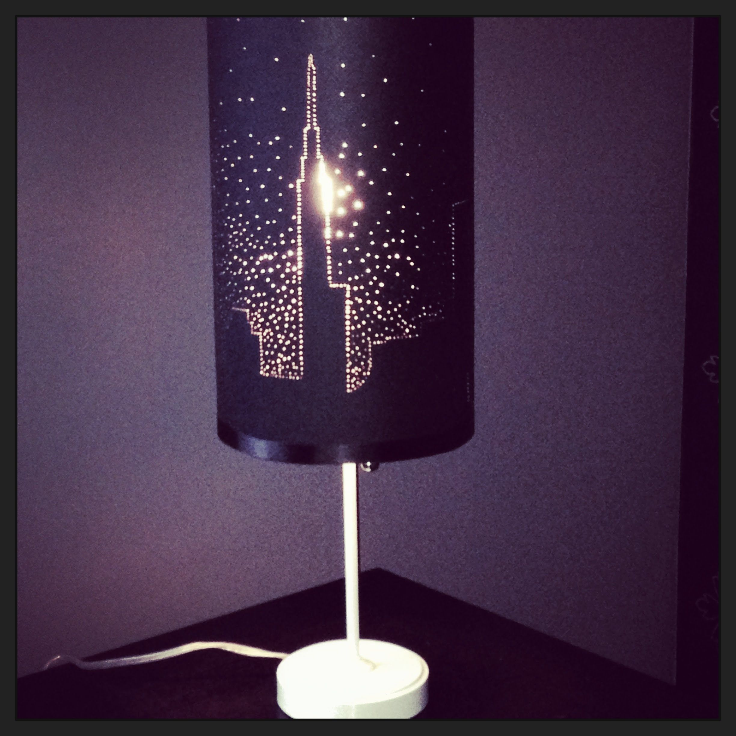 Diy Lamp Shades Impressive Starry Night Lamp Shade  Diytanya Memme As Seen On Home Inspiration