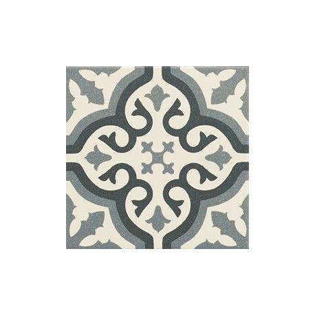 Carrelage imitation carreau ciment sol et mur blue 20 x 20 cm ...