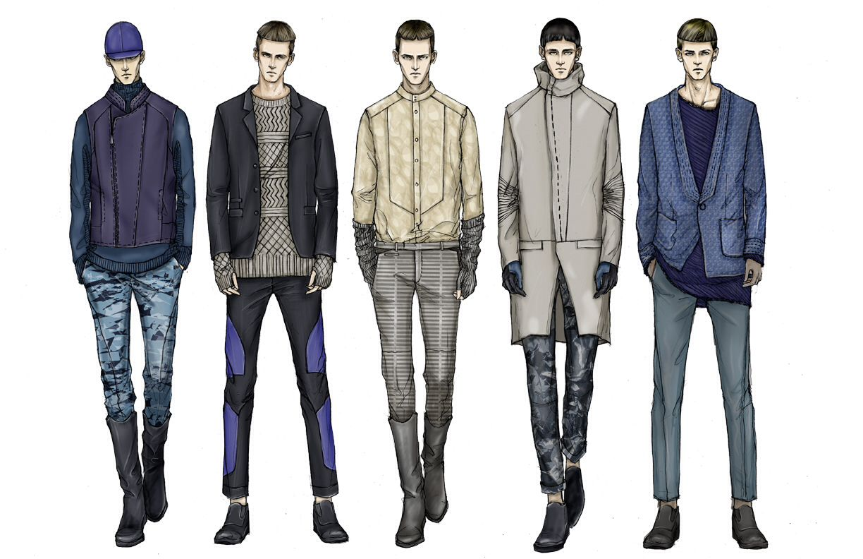 Illustration Fashion sketches for men