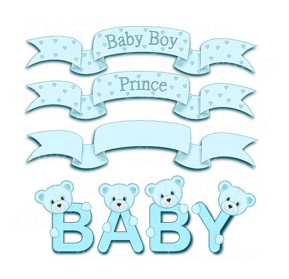 Banners Clip Art Baby Clip Art Baby Banners Baby Baby Etsy In 2020 Baby Clip Art Banner Clip Art Clip Art