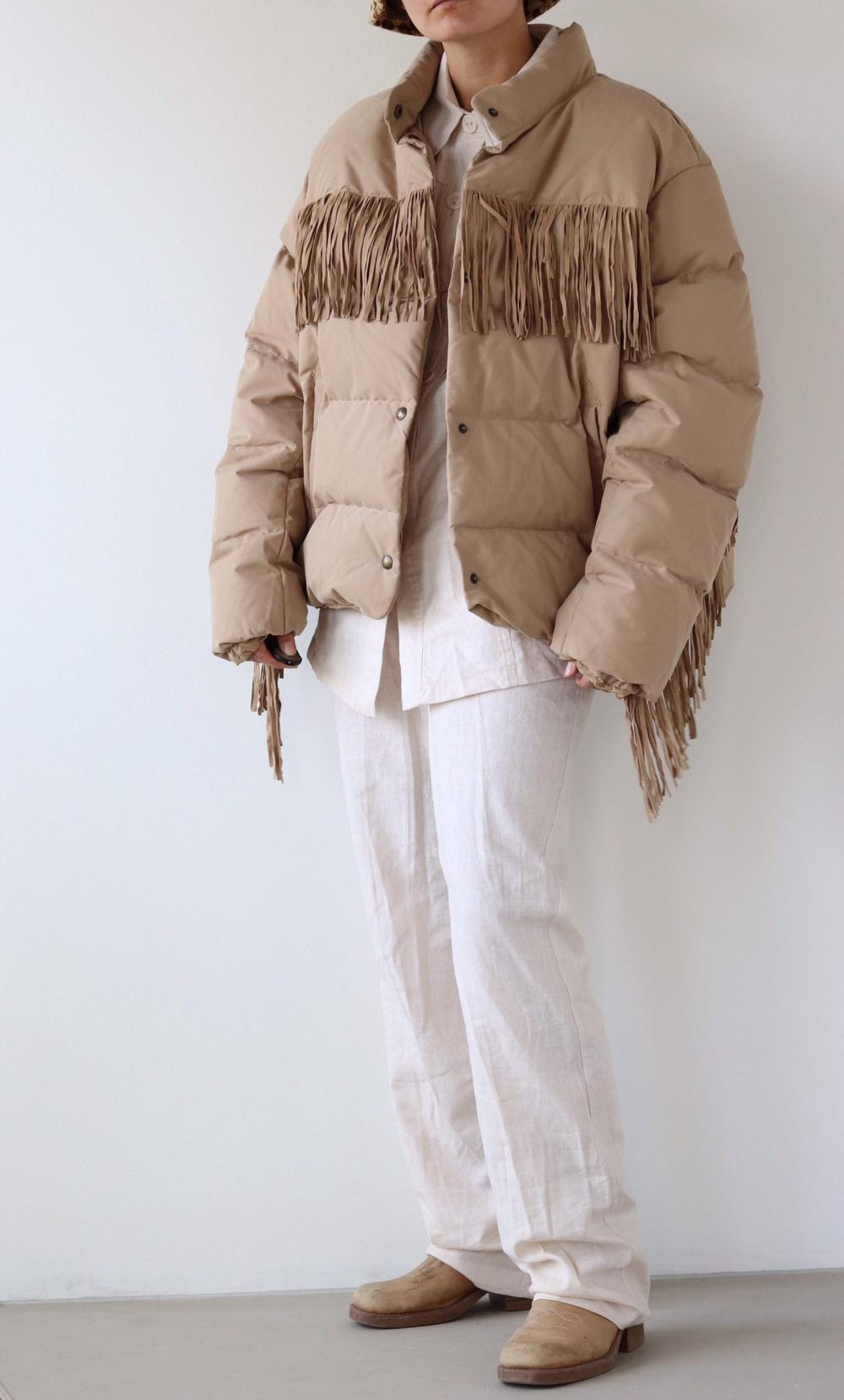 Ralph Lauren Polo Beige Western Fringed Puffer Jacket Etsy Polo Ralph Lauren Winter Jackets Ralph Lauren [ 1659 x 1000 Pixel ]