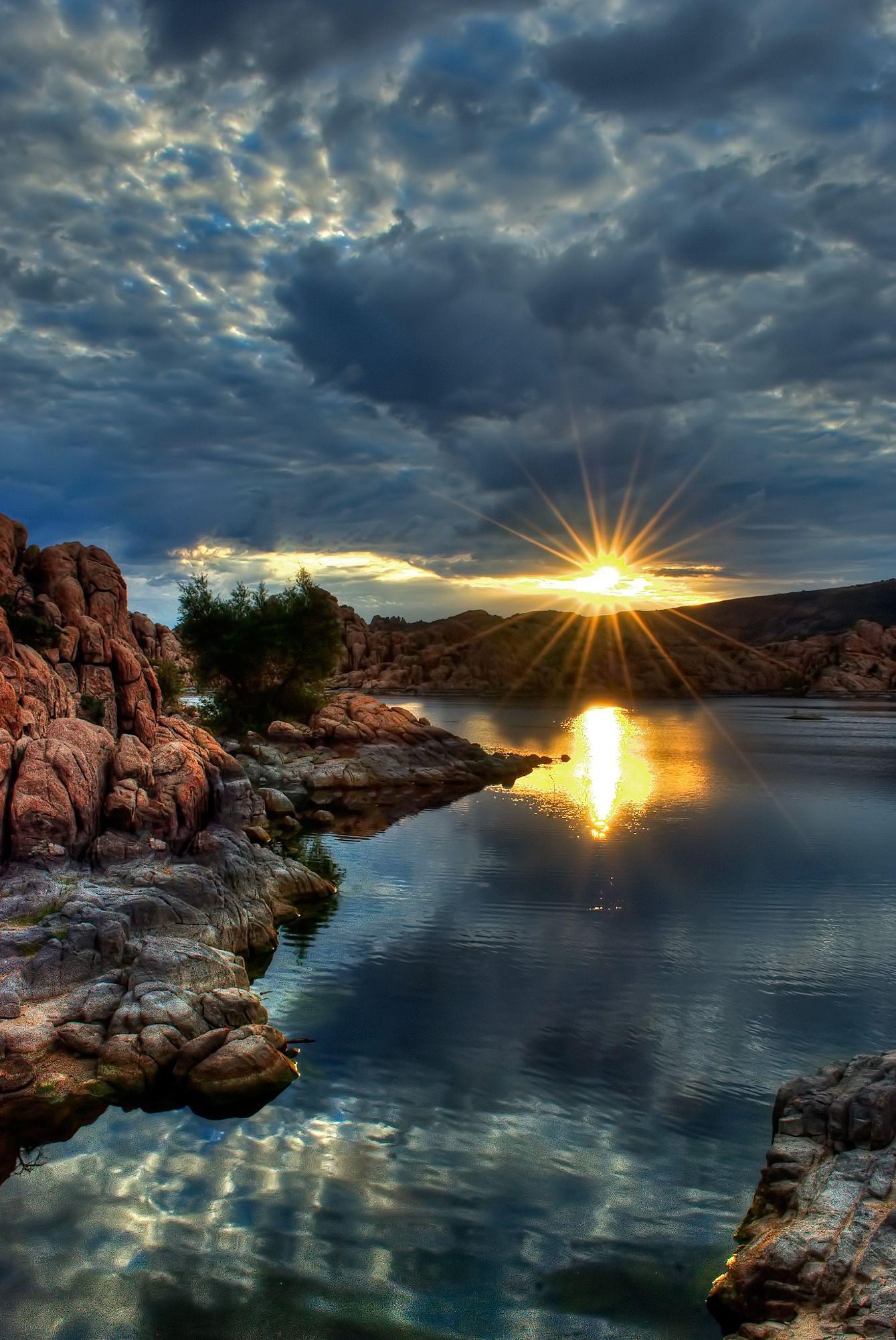 Sunrise At Watson Lake In Prescott Nature Photography Beautiful Nature Beautiful Landscapes
