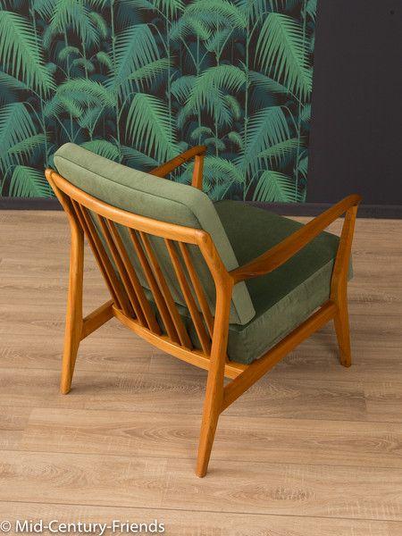 Vintage Sessel - 60er Sessel, Sofa, 50er, Vintage, grün - ein ...