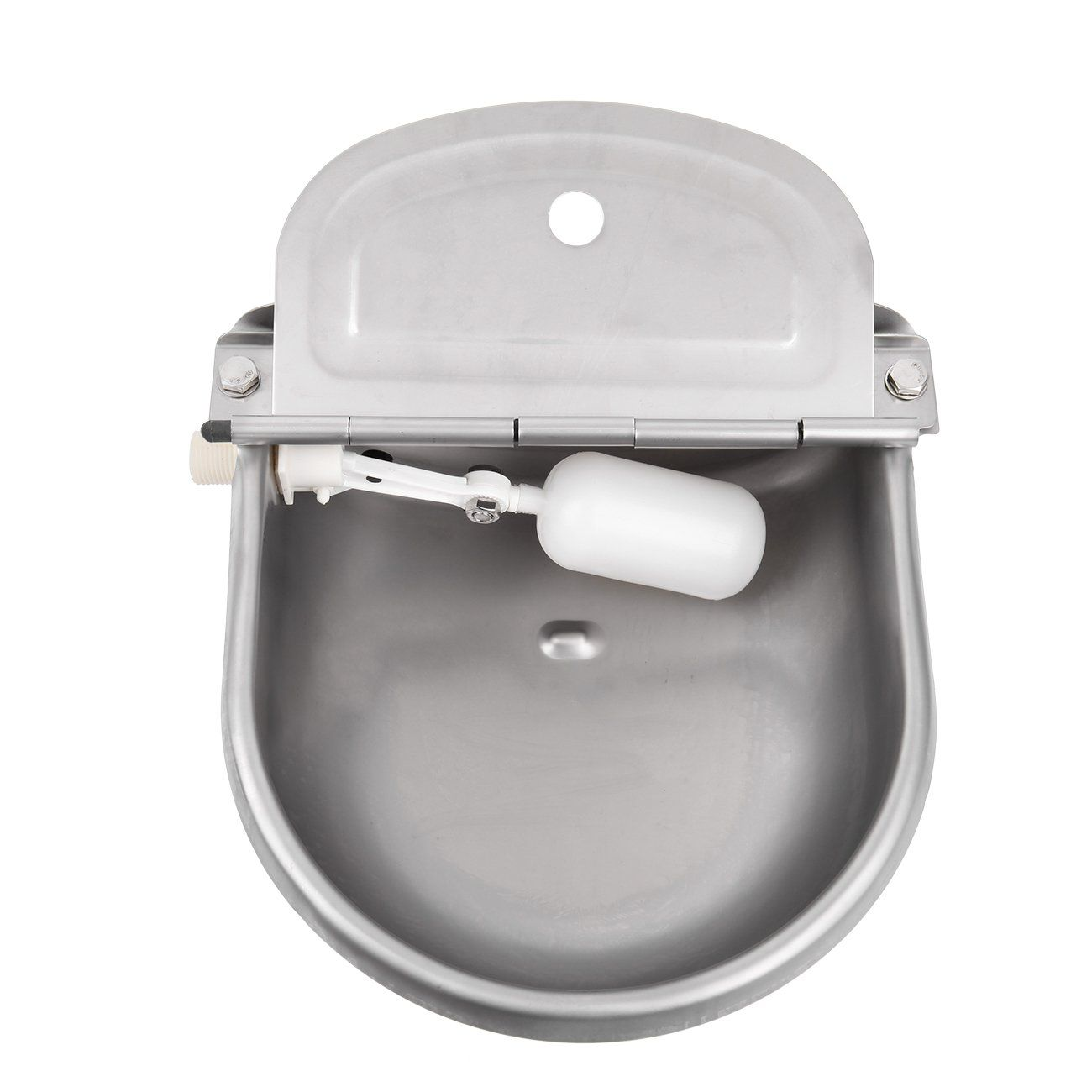 Ridgeyard Outdoor Automatic Stock Pet Waterer Water Trough Stainless Steel Sheep Dog Chicken Cow Auto Fill Bowl Want Add Dog Feeding Sheepdog Dogs