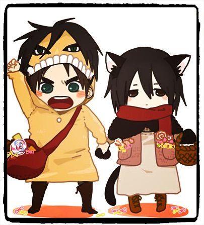 Eren y Mikasa reaccionan a ships..... y más.... mucho más