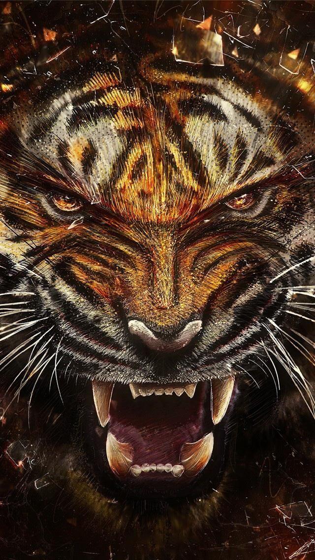 Pour Changer D Ecran Sur Iphone Galaxy Smartphone Tres Facilement Fonds D Ecran Gratuits By Unesourisetmoi Art Tigre Visage De Tigre Fond D Ecran Tigre