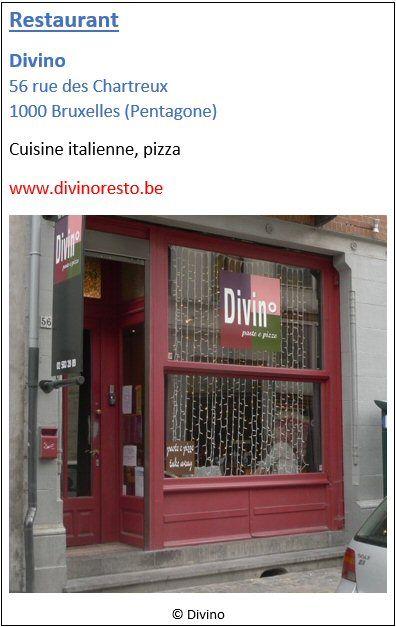 Restaurant Divino - 56 rue des Chartreux - Pentagone