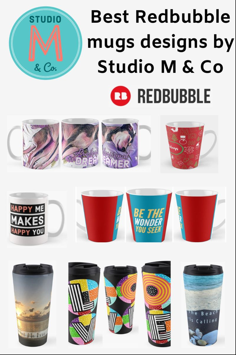 The board has all mugs designs from my collections for Redbubble ❤️ #mugs #gifts #mugdesign #travelmug #coffeemugsunique #mug #christmasgifts #giftideas #trending #homedecorkitchen