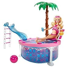 Barbie piscina glam barbie juguetes juguetes mattel y barbie - Piscina toys r us ...