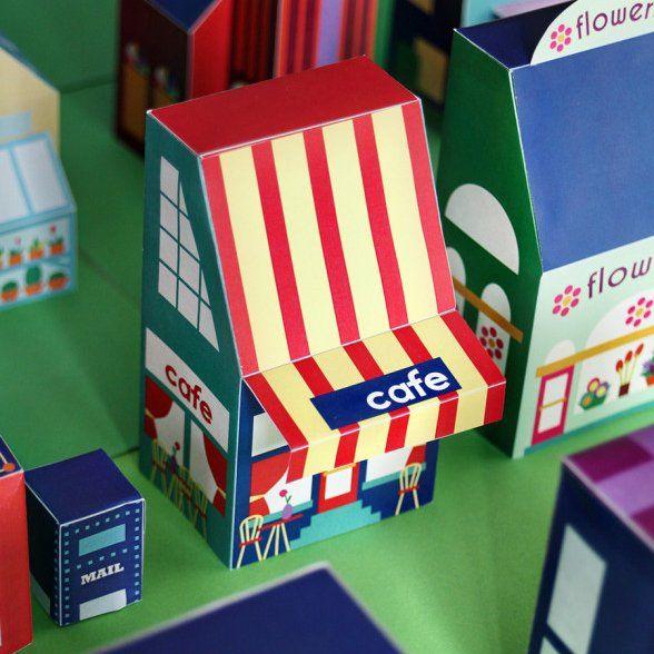 D 39 adorables papertoys pour jouer ou d corer enfants kids jouets de papier maison en - Gabarit maison en carton ...