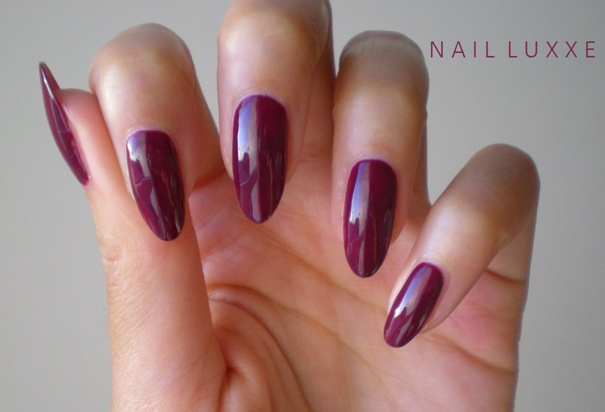Trends For > Dark Red Nails Almond - Nail Art | Pinterest - Donker ...