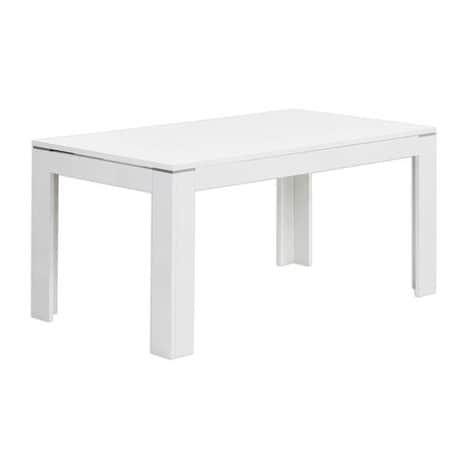 Esstisch SLATE weiß Hochglanz erweiterbar 160x90 cm