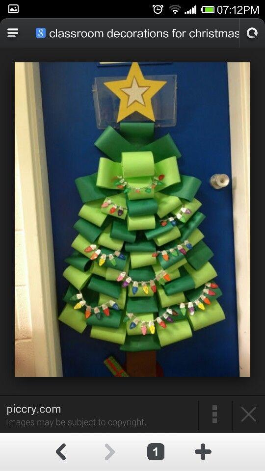 Rbol navidad con cinta de agua manualidad navidad - Cintas navidad para arbol ...