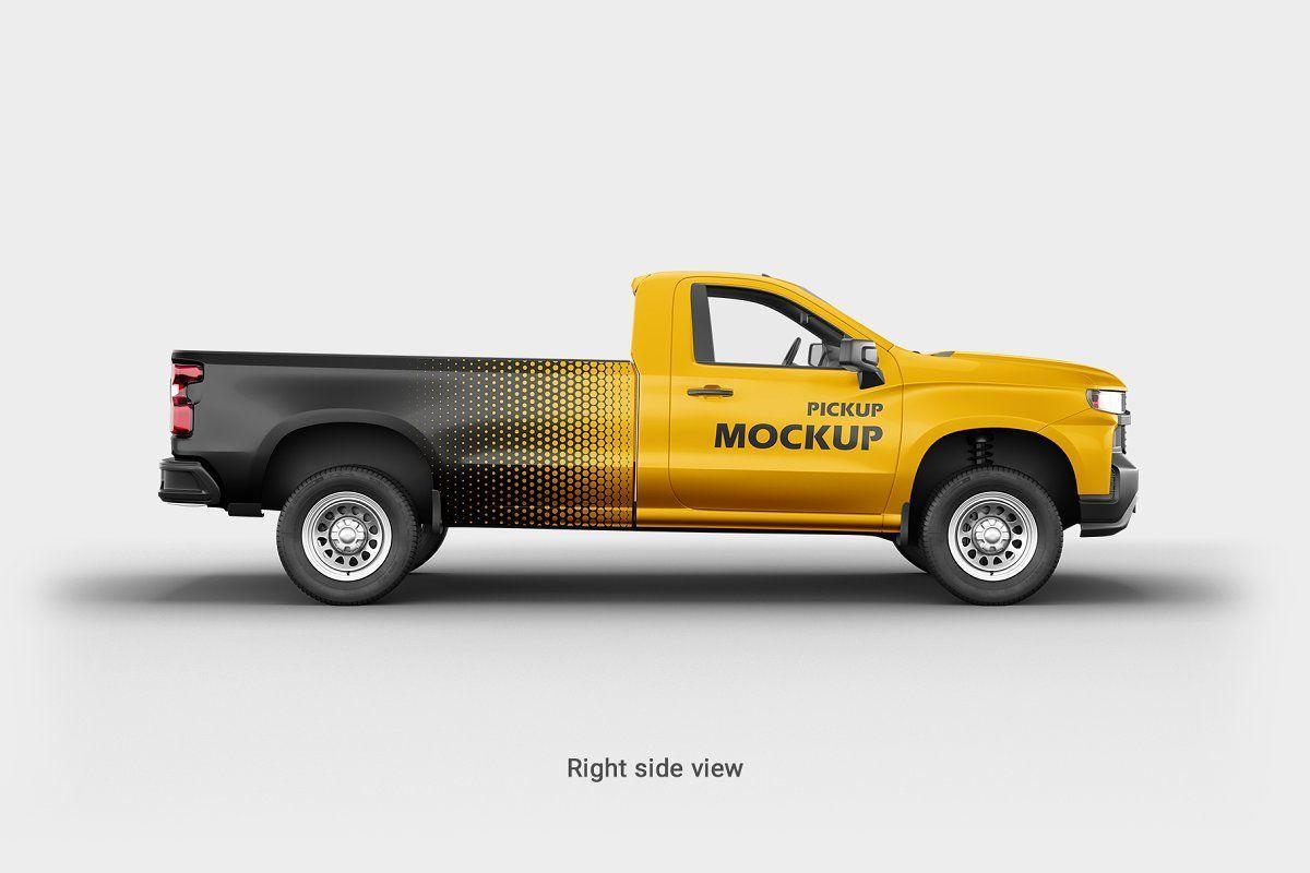 Pickup Mockup 2 Mockup Simple Camera Logo Mockups Psd