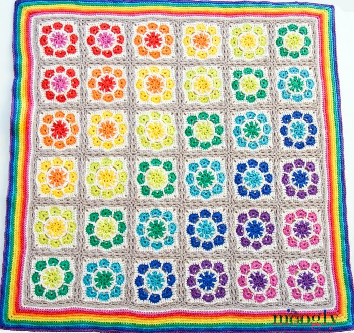 Magic Rainbow Baby Blanket: Free #Crochet Pattern! | Pinterest ...
