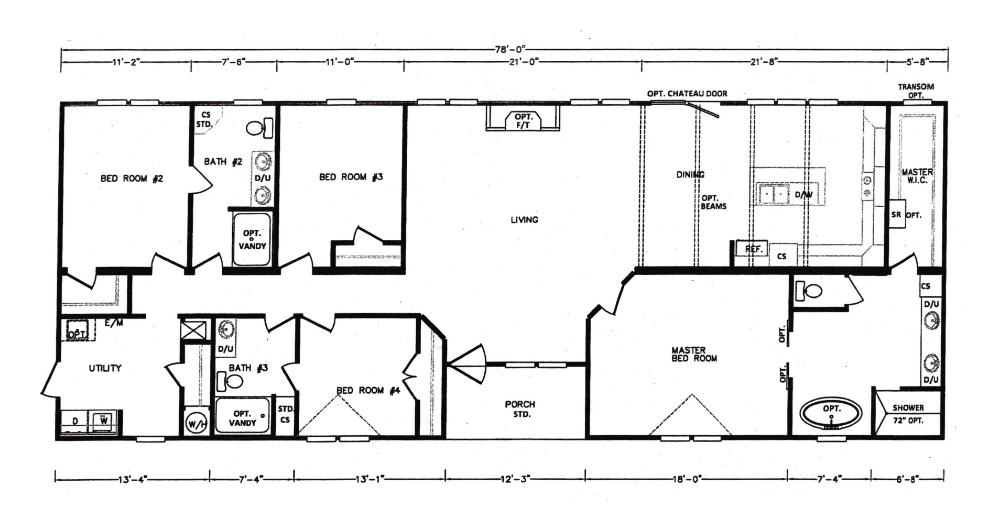 Kb 3244 Kabco Builders House Floor Plans Floor Plans Modular Home Floor Plans