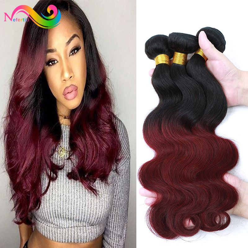 Find more human hair extensions information about 7a ombre find more human hair extensions information about 7a ombre burgundy brazilian virgin hair 3 bundles rosa pmusecretfo Image collections