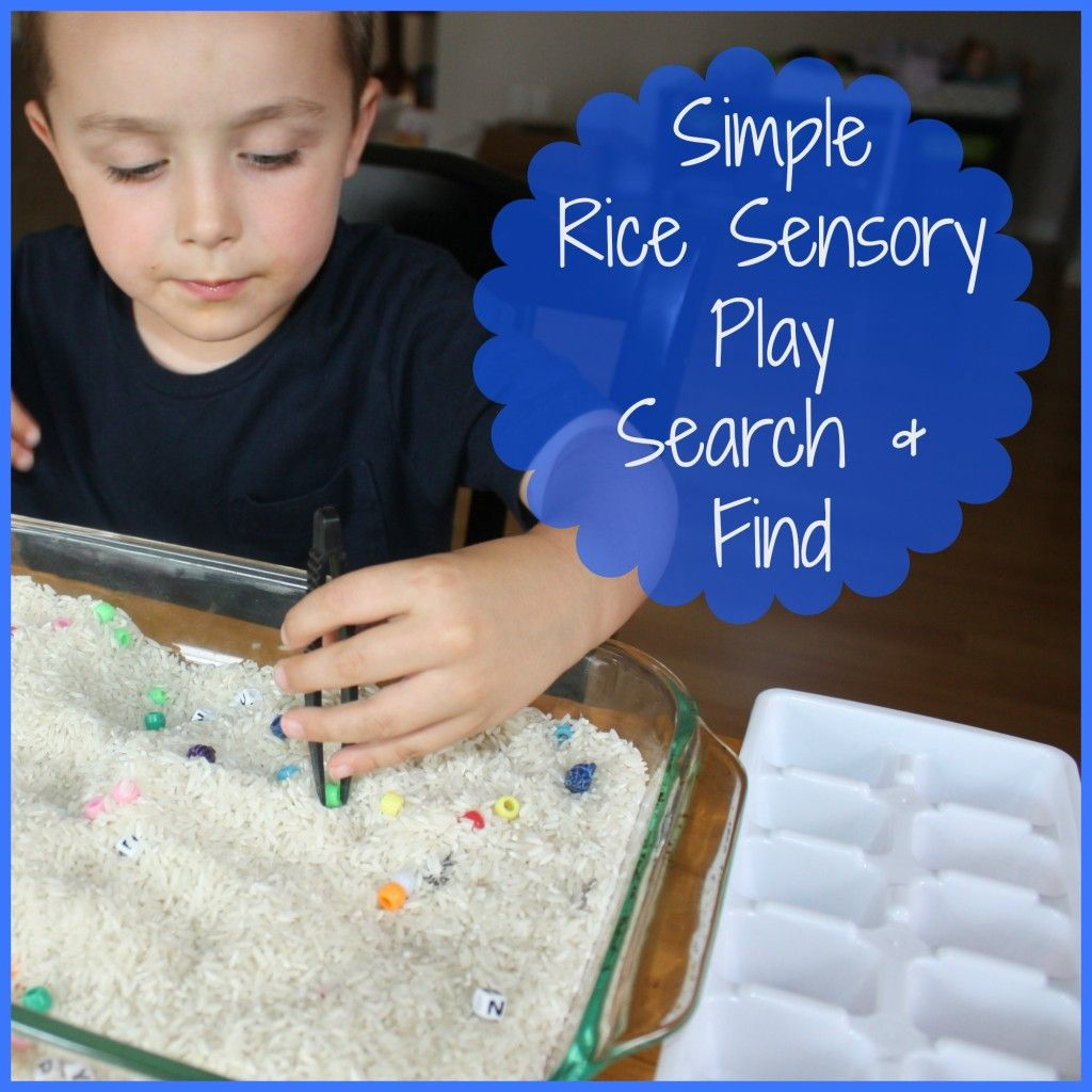 Search Amp Find Rice Sensory Bin