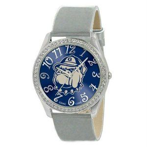 """Georgetown Hoyas NCAA Ladies Glitz Series"""" Watch"""" by Game Time. $40.32. Georgetown Hoyas NCAA Ladies Glitz Series"""" Watch"""". The Ladies Glitz watch features the official licensed team logo; all metal case with 50 crystal stones; patent leather strap; brass dial; stainless steel crown; caseback and buckle; incredible accuracy and reliability Japan Miyota Quartz movement; water resistance to 3 ATM (99 ft); and a Limited Lifetime Warranty."""