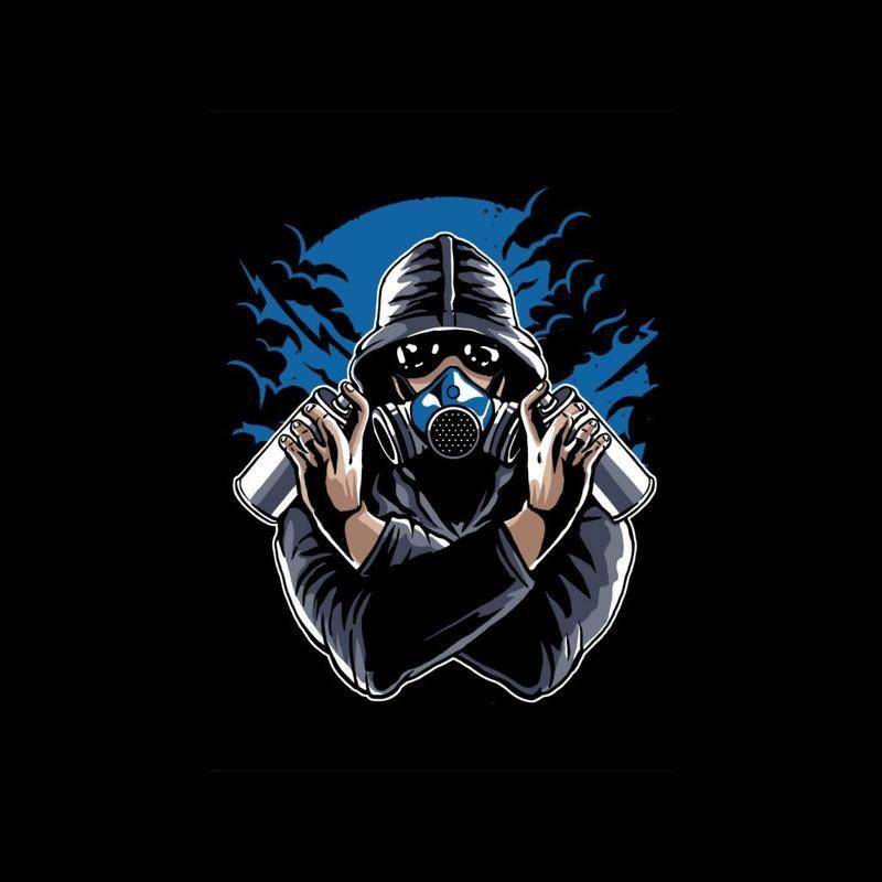 Graffiti Gas Mask Men's T-Shirt