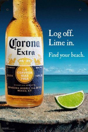 Tin Plate Sign Metal Poster Of Corona Beer Log Off Lime In 16 X24 Amazon Co Uk Kitchen Home Corona Bottle Corona Beer Bottle Beer