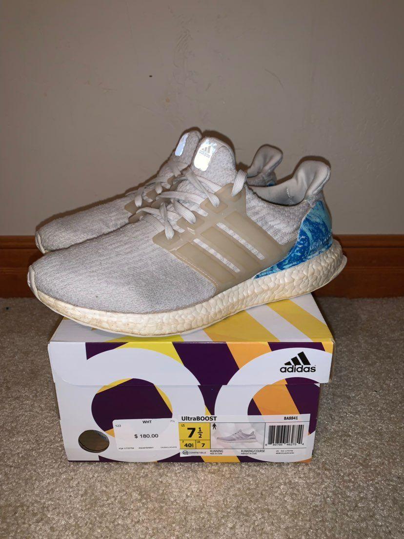 Custom Adidas Ultra Boost, worn a lot