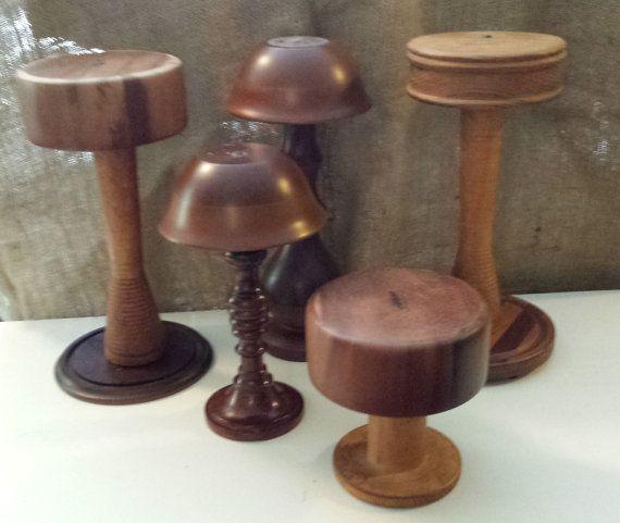 Table Top HAT DISPLAY Wood Hat Rack Store By GreenwichTreasures