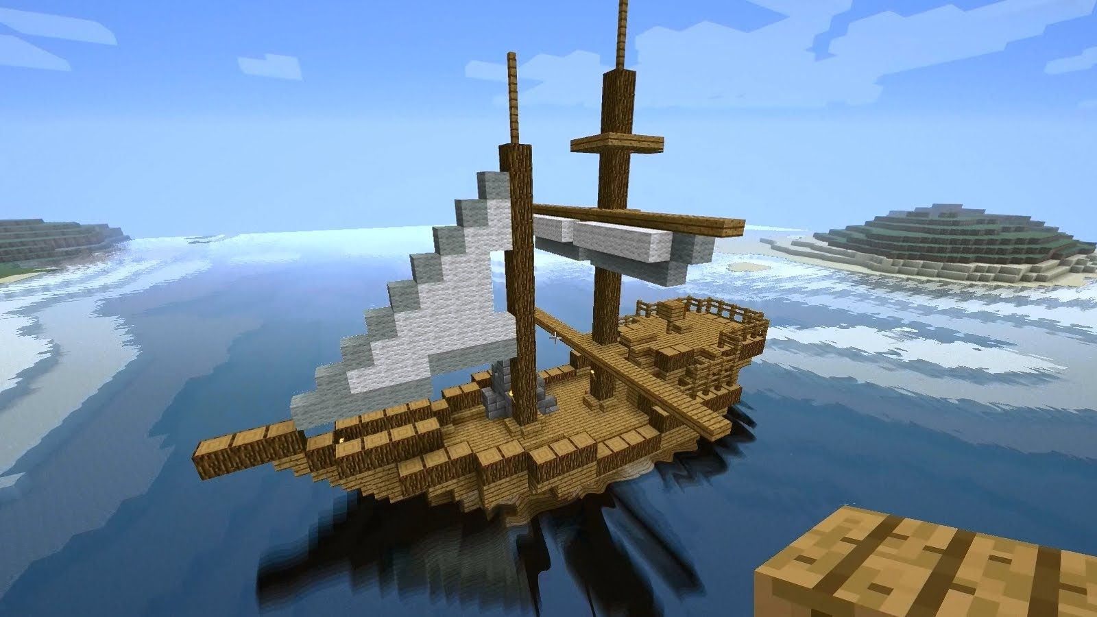 Minecraft Tutorial: How to build a medieval ship (Tradeship) Version ...