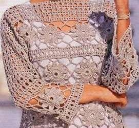 2fccb3673f Csinos, nagy csillagokból horgolt nyári női pulóver séma 1 séma 2  jelmagyarázat Kellemes időtöltést.
