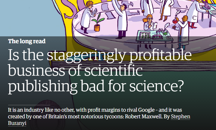Image result for Is the staggeringly profitable business of scientific publishing bad for science?