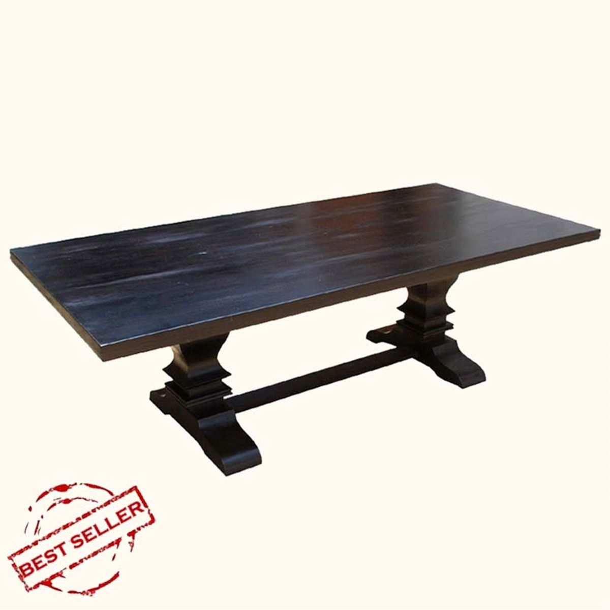 Trestle Pedestal Solid Wood Nottingham Rectangular Dining Table in