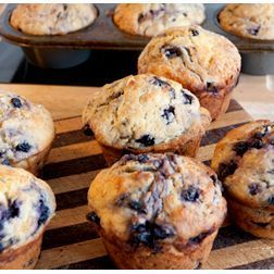 Simple Gluten Free Blueberry Muffins - an easy to follow no dairy and no gluten muffin recipe.
